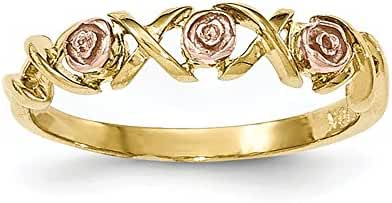 10k Tri-color Black Hills Gold Rose Ring