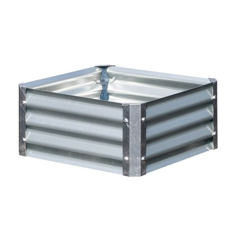 EarthMark MGB-L021 Bajo Series 22 x 22 x 10 in. Square Galvanized Metal Planter