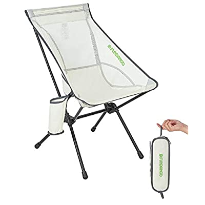 FUNDANGO Ultralight Folding Camping Chair, Portable High Back Backpacking Chair with Pocket in a Carry Bag Compact for Outdoor Camp, Travel, Picnic, Fishing, Hiking, BBQ : Sports & Outdoors
