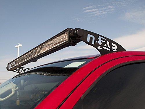 2 Pack NFA 50 Series Black-C8850LR N-Fab C8850LR Gloss Black Roof Mounts