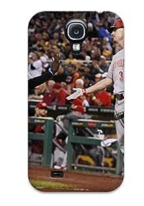 Fashion Tpu Case For Galaxy S4- Cincinnati Reds Defender Case Cover
