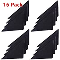 ASIBT Rug Grippers Stopper Anti Slip Corner Non Slip Mat Carpets Pad, Black, 1/ 25 Inch in Thickness, 16 Pack