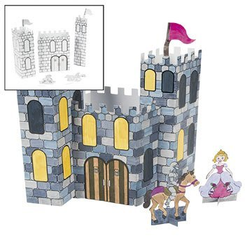 Color Your Own 3D Castles - Vacation Bible School & Crafts for (Color Castle)