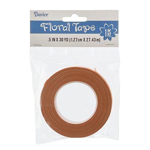 Darice 1-Piece Floral Tape, 0.5-Inch by 30-Yard, Peach P35754-24