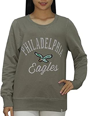 PHI EAGLES Athletic Thermal Sweatshirt (Vintage Look) for Womens M Grey