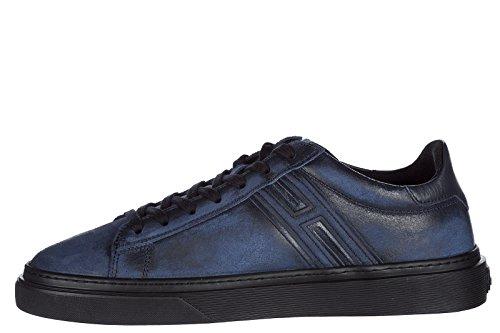 Scarpe Da Ginnastica Hogan Uomo Sneakers In Pelle H340 Blu