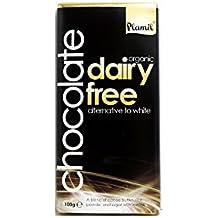 Plamil - Organic Dairy Free Alternative to White Chocolate - 100g (Pack of 6)