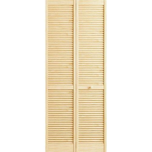 Louver Closet Doors (Classic Louver/Louver Bifold, Unfinished, 36