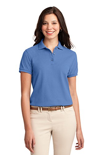 Port Authority Womens Comfortable Silk Touch Sport Polo Shirt  Ultramarine Blue  X Large