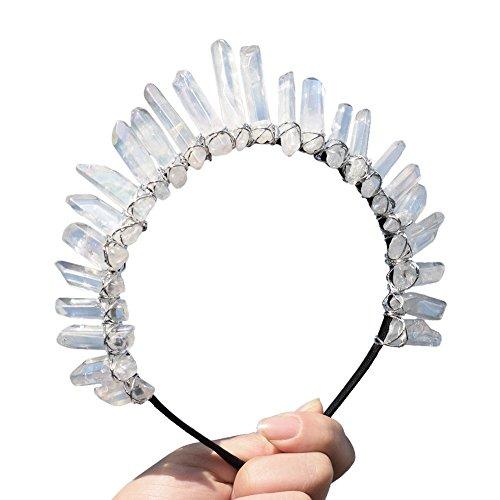 GRACEART Cristal Quartz Tiare Sirène couronne Bandeau