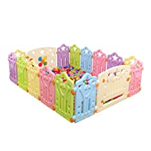 Qianle Baby Indoor Playpen Safty Play Center Yard Play House for Toddler Kids 14pieces