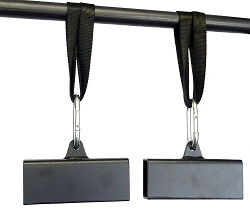 Apollo Athletics 2'' x 3'' Steel Beam Pinch Block Grips with Straps (Pair) - Pull-Up Grips - Improve your Pinch Strength by Ironcompany.com