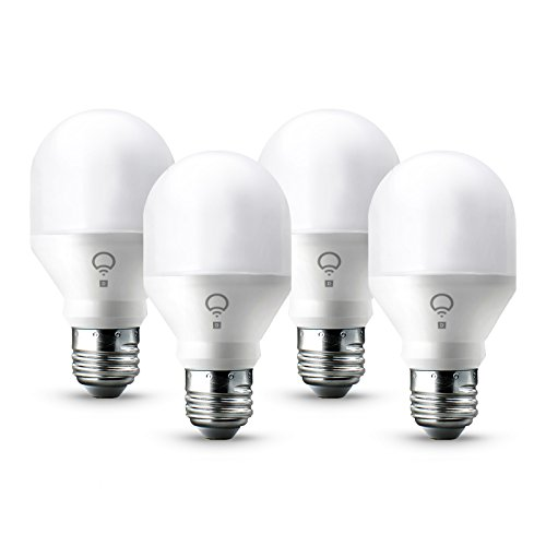 LIFX Mini Day & Dusk (A19) Wi-Fi Smart LED Light Bulb, Adjustable, Dimmable, No Hub Required, Works with Alexa, Apple HomeKit and the Google Assistant, Pack of 4 by LIFX