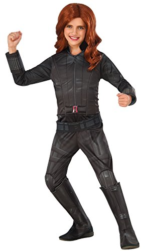 Rubie's Costume Captain America: Civil War Black Widow Child Costume, Large (Black Widow Cosplay Costume)
