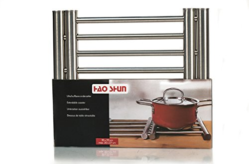 HAO SHUN Extendable Stainless Steel Cooking Pot Coaster Table Mat - Kitchen Dining Tableware Accessories