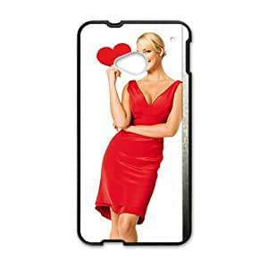 SANLSI Fire Red Woman Design Pesonalized Creative Phone Case For HTC M7