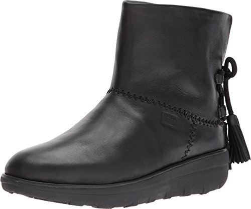 FitFlop Women's Mukluk Shorty II Boots w/Tassels All Black 8 M US (Fitflop Womens Boot Mukluk)