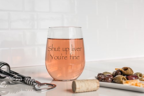 Wedding Wine Gift - Funny Stemless wine glass (15 oz) - Great for Bachelorette Parties - Unique Wine Glasses - Restaurant Quality for Red or White Wine - A fun Gift for Any Wine Lover by WineLolz (Image #3)