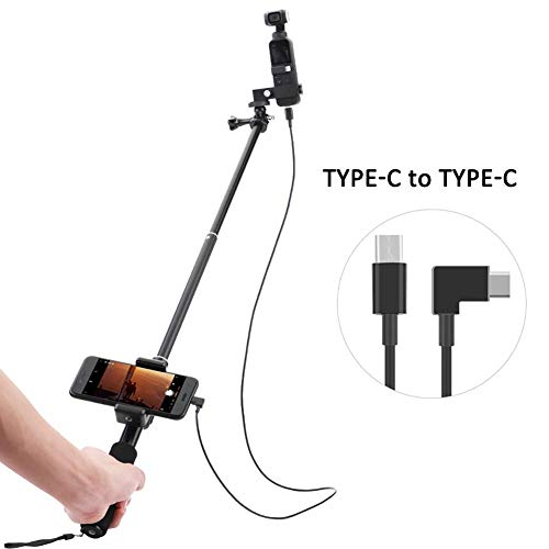 rowna Selfie Stick Extendable Pocket Selfie Stick Stick - Applicable to A Set of Extension Data Cables Android TYPEC OSMO Pocket Selfie Stick