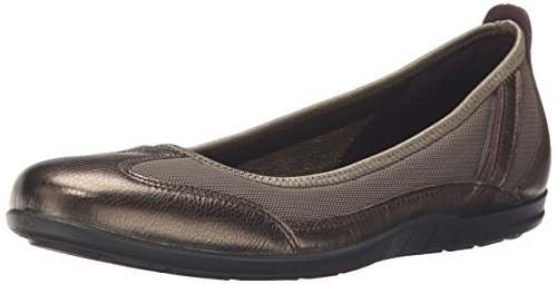 Ecco Footwear Womens Bluma Summer Ballerina Ballet Flat, Licorice Metallic/Tarmac, 40 EU/9-9.5 M US by ECCO