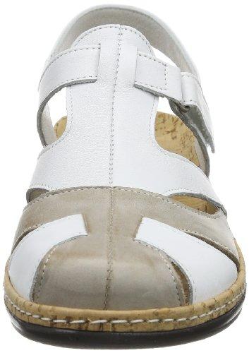 Comfortabel 720079 - Sandalias de cuero para mujer, color blanco, talla 36 Blanco (Weiß (Weiß/Biskuit 3))