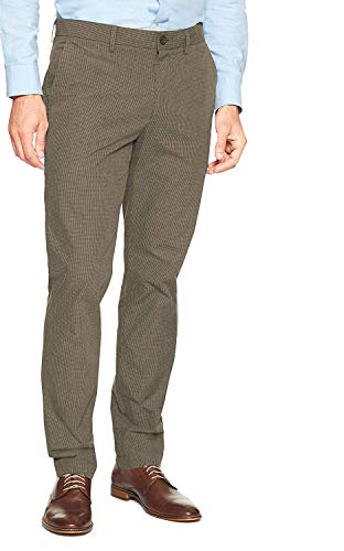 Banana Republic Mens 261495 Aiden Slim Fit Dress Pants, Light Green -