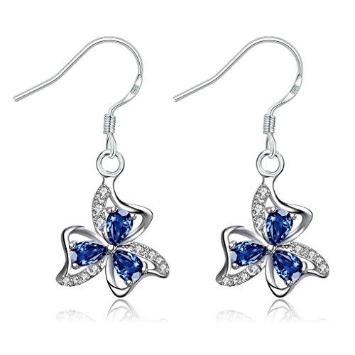 fonk: Lovely silver earrings for women Four Rhinestone drop cuff bijouterie HBE244
