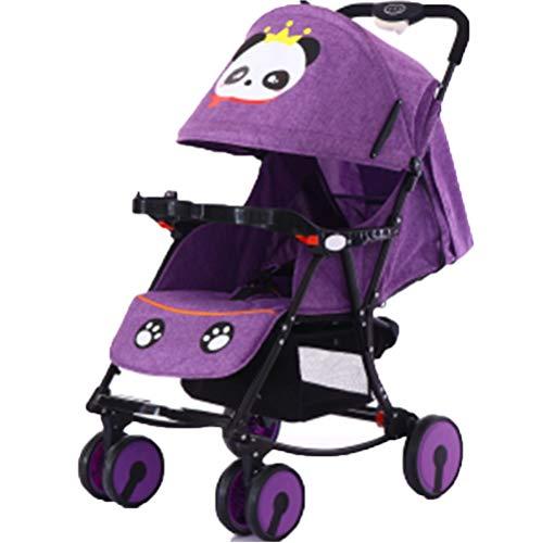 DYFAR Fashion Four Seasons prams fold High Landscape Toddlers Baby pushchairs Bidirectional Newborn Strollers Suitable for Children 0-3 Years Old, Purple
