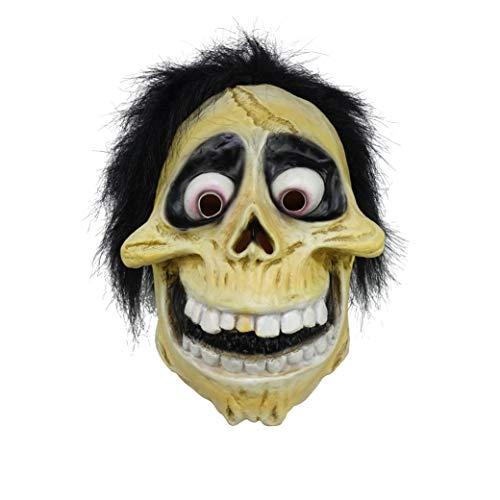 Mens Movie Character Costumes (Hector Rivera Miguel Mask, Skull Latex Helmet Full Head Hector Mask For Men Boys Halloween Costume)