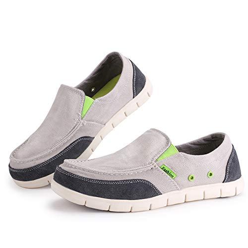 De Primavera Perezoso Zapatos Luz Claro Cómodo Hombres Gris Pisos Los Mocasines Moda Clásica Verano Plana Ultraligero Lona Sólidos dzIIrqwg