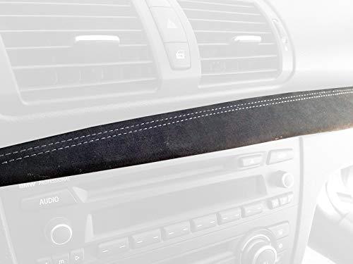 Black Alcantara-Red Thread RedlineGoods Dash pad Cover Compatible with Subaru BRZ 2012-19