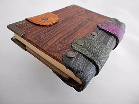 Guitar pendant Handmade mini leather journal,leather journal,leather notebook,steampunk,journals with lock,writing journal,sketchbook