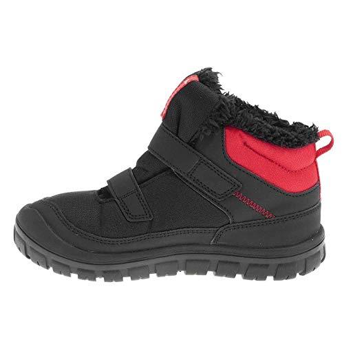 QUECHUA - Zapatillas de Senderismo de Caucho para niño, Color Rojo, Talla 25 EU: Amazon.es: Zapatos y complementos