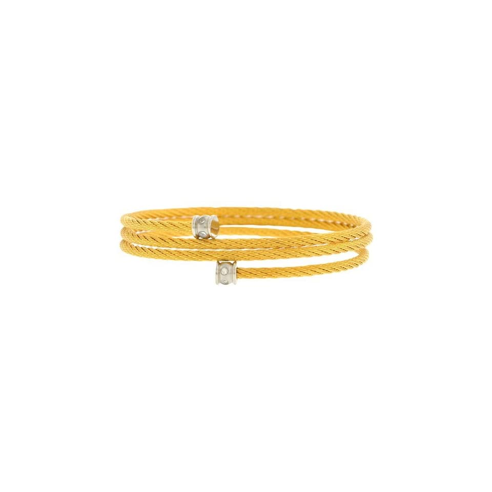 Inox Jewelry Womens Braided Loop Gold pvd 316L Stainless Steel Bangle Bracelet