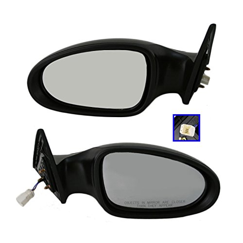 Power Gloss Black Side Mirrors Pair Set Left LH & Right RH For 05-06 Altima