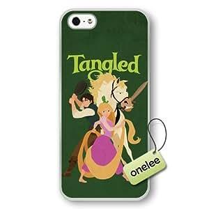 phone covers Cartoon Movie Disney Tangled Princess Rapunzel Hard Plastic Phone Case & Cover for iPhone 5c - Transparent 1 WANGJING JINDA