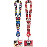 Magical Memories Collection Disney Mickey Mouse and Minnie Mouse Lanyards with Retractable ID Holders
