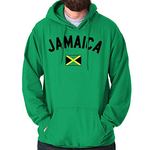 (Jamaica Flag Athletic Soccer Jamaican National Flag Pride Hoodie Irish)