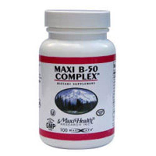 Maxi Vitamins B-complex (Maxi Health Research - B-50 Complex 100 cap)