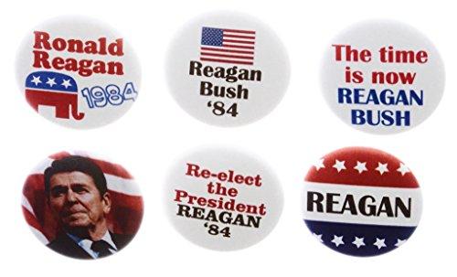 - A&T Designs Set 6 Reagan Bush '84 Campaign Republican 1.25