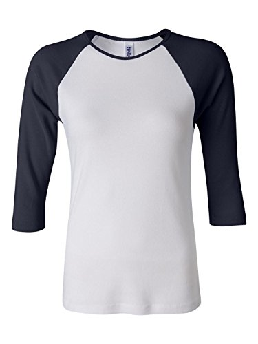T-shirt Tone Raglan (Bella Ladies Two-Tone 3/4-Sleeve Raglan T-Shirt (B2000))