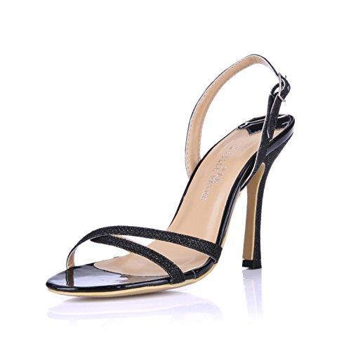 Desglose Los Mayor De Tacón Alto Sandalias Discotecas Y Femenino Para Mostrar Black Zapatos Temperamento Mujer vwPzpF