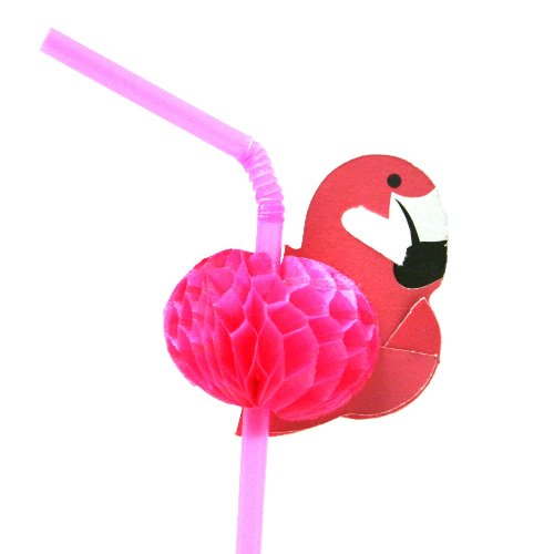 Flamingo Straws (1-Pack of 12)