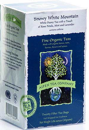 (Aspen Tea (Snowy White Mountain-Rose Petals,Mint & Lavender) )