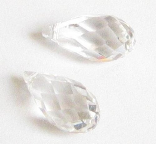 1 pc Swarovski Crystal 6010 Teardrop Briolette Clear Charm Pendant Bead 21mm / Findings / Crystallized (Mm Briolettes Crystal)