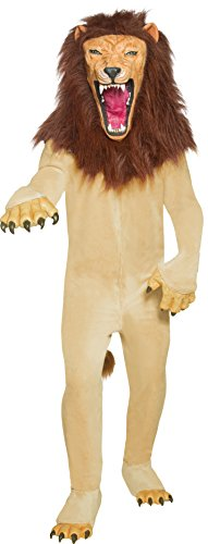 Smiffys Men's Cirque Sinister Vicious Circus Lion Costume, Jumpsuit, Hands, Mask and Shoe covers, Cirque Sinister, Halloween, Size M, 34268