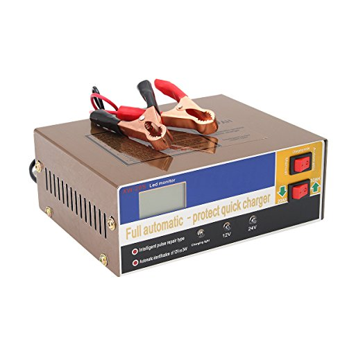 Wisamic 12V/24V 100AH Automatic Electric Car Battery Charger Intelligent Pulse Repair Type Battery Charger