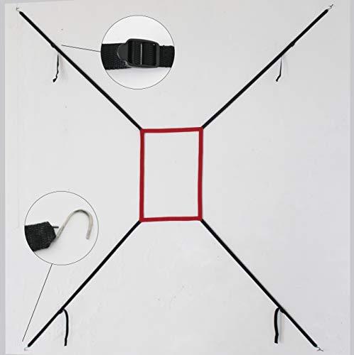 Kapler Adjustable Strike Zone Target Practice Throwing with Strike Zone Adjustable Strike Zone Target Only