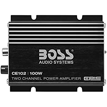 boss audio ce102 100 watt, 2 channel, 4 ohm stable class a/b
