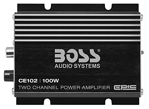 Boss Audio Systems CE102 100 Watt, 2 Channel, 4 Ohm Stable Class AB, Full Range, Mosfet Car Amplifier